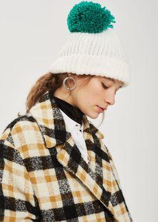 Topshop Chunky Knit Pom Hat