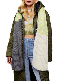 Topshop Chunky Knit Scarf