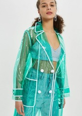 Topshop clear vinyl trench coat  abv1ae92bf7 a
