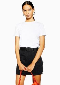 Topshop Clip Belt Denim Skirt