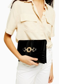 Topshop Clo Black Ring Clutch Bag
