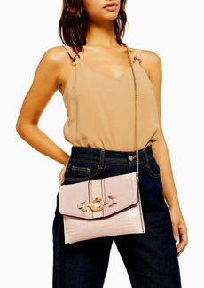 Topshop Clo Nude Ring Clutch Bag
