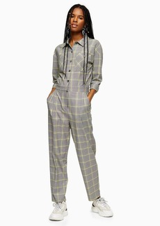 Topshop Clothing /Rompers Jumpsuits /Gray Check Boiler Suit