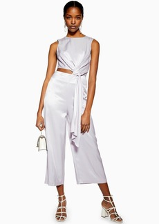 Topshop Clothing /Rompers Jumpsuits /Lilac Satin Twill Jumpsuit