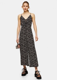Topshop Clothing /Rompers Jumpsuits /Talltie Front Floral Aio