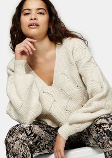 Topshop Clothing /Sweaters Knits /Dtall Ovr Prty Stch
