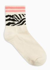 Topshop Clothing /Tights Socks /Ecru Zebra Neon Tube Socks