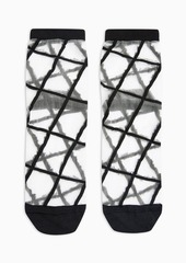 Topshop Clothing /Tights Socks /Grid Mesh Socks In Black