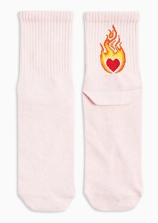 Topshop Clothing /Tights Socks /Heart Flame Tube In Pink Flame