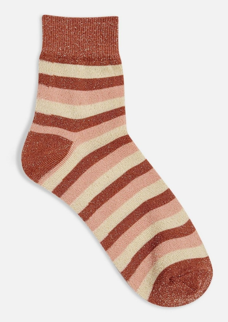Topshop Clothing /Tights Socks /Multi Stripe Glitter Socks