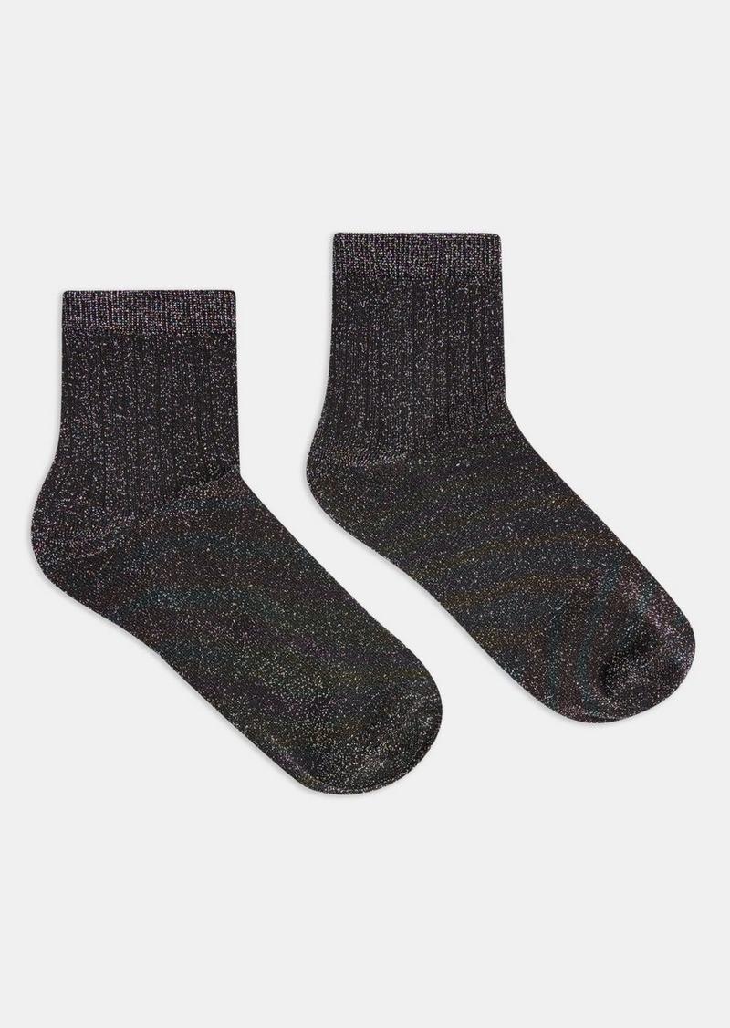 Topshop Clothing /Tights Socks /Multi X Ribbed Glitter Socks