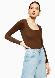 Topshop Clothing /Tops /Square Neck Bodysuit By Boutique