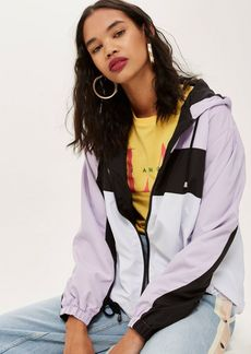 Topshop Colour Block Windbreaker Jacket