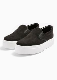 Topshop Congo Black Slip On Shoes