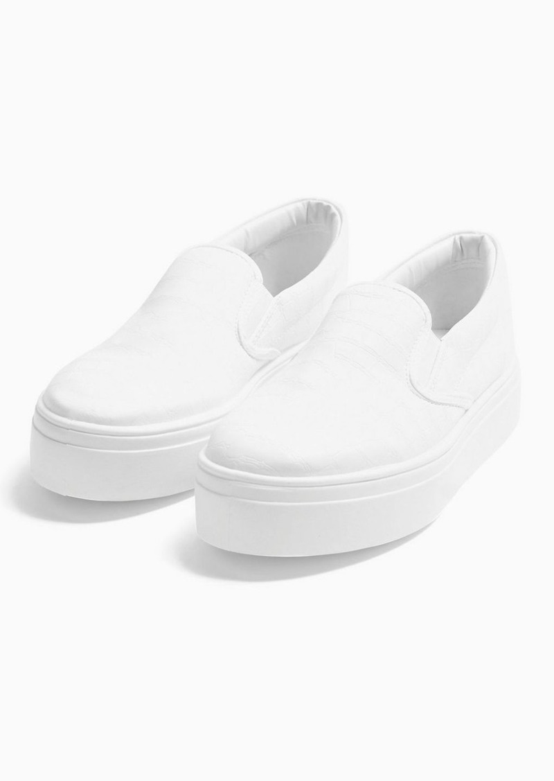 Topshop Congo White Slip On Sneakers
