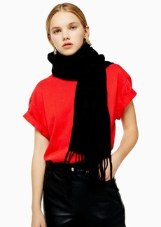 Topshop Clothing /Winter The Fashion Way /Considered Black Super Soft Scarf With Recycled Polyester