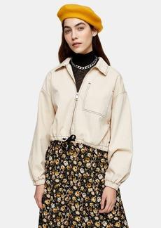 Topshop Considered Ecru Organic Cotton Jacket