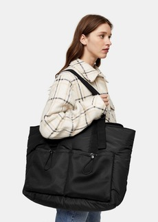 Topshop Considered Major Mesh Pocket Recycled Polyester Tote Bag