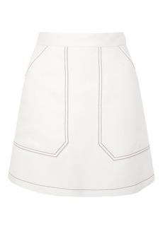 Contrast Seam A Line Skirt