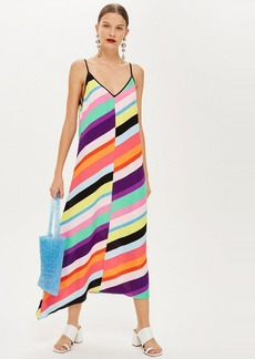 Topshop Contrast Stripe Slip Dress