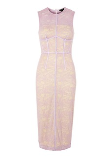 Topshop Corset Lace Midi Shift Dress