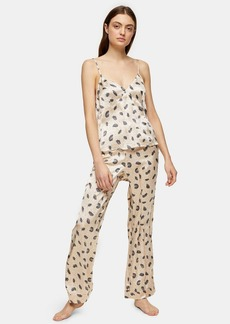 Topshop Clothing /Lingerie Sleepwear /Cream Feather Print Pj Cami