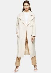 Topshop Clothing /Jackets Coats /Cream Lipped Shoulder Duster Coat