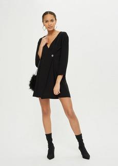 Topshop Crepe Wrap Mini Dress