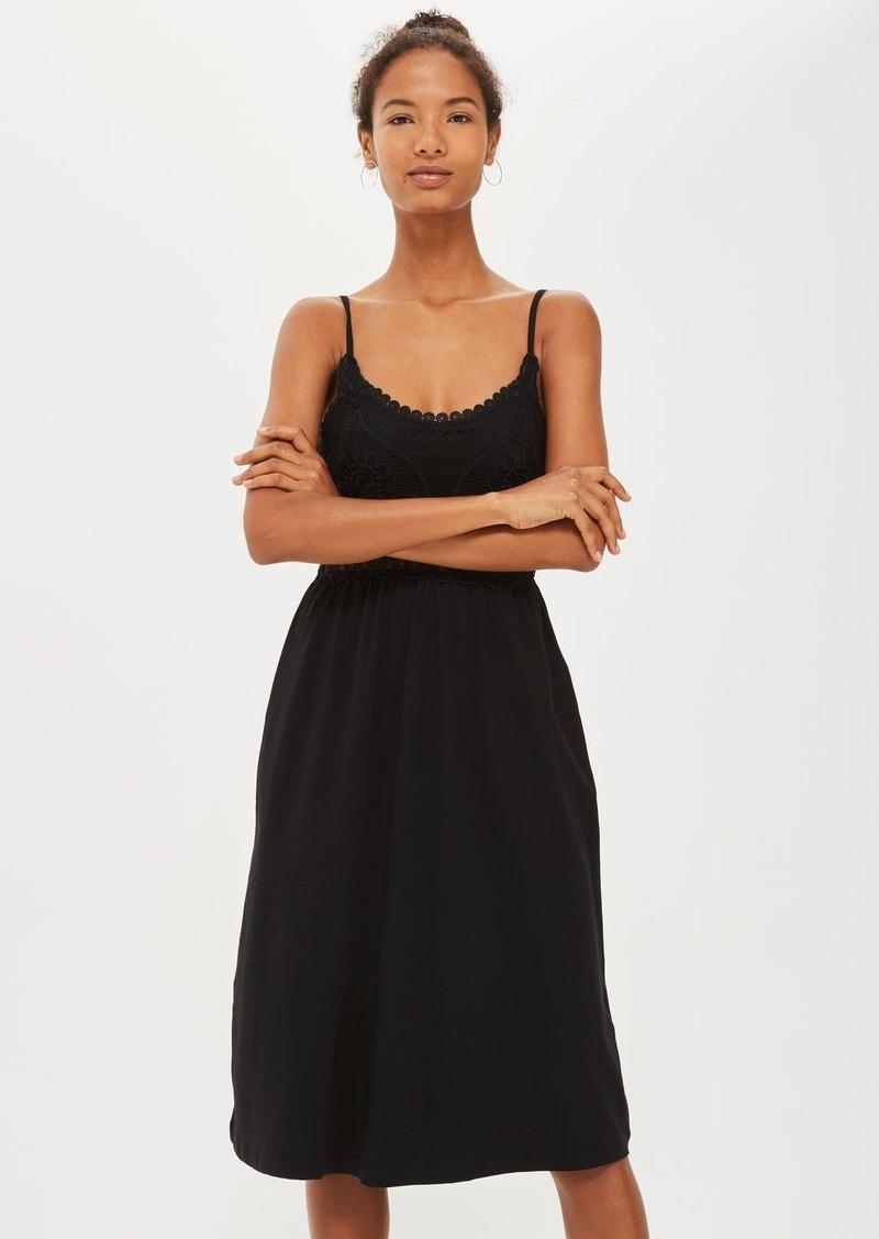 7809a875b781 Topshop Crochet Bodice Midi Sun Dress