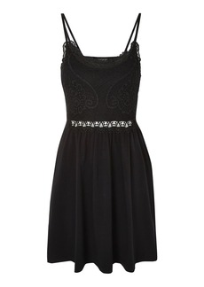 Topshop Crochet Lace Insert Dress
