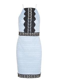 Topshop Crochet Trim Contrast Dress
