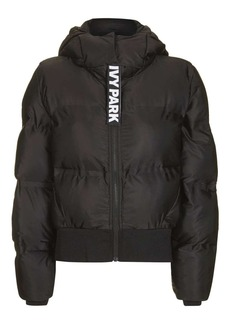 Topshop Cropped Hooded Puffer Jacket By Ivy Park