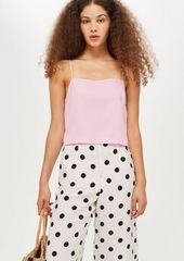 Topshop Cropped Square Neck Cami