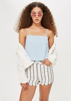 Topshop Cropped Square Neck Camisole Top