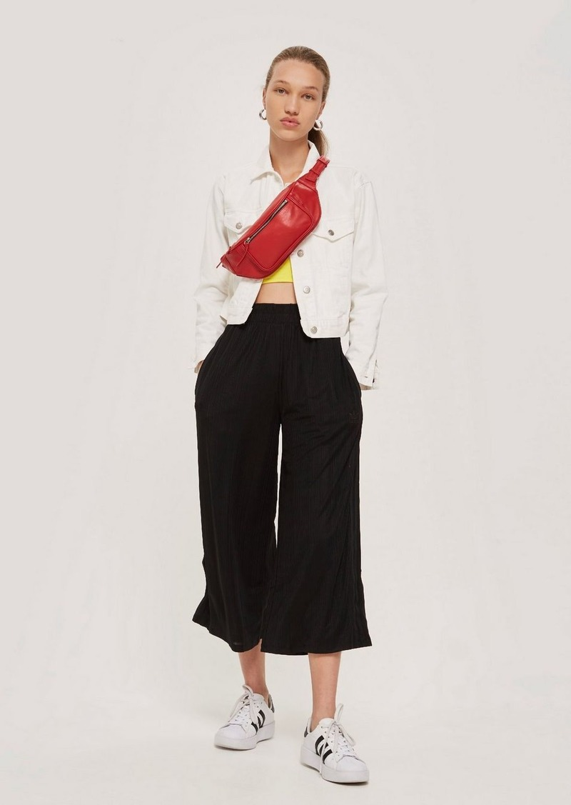 aa92c7fcb4e35 Topshop Cropped Wide Leg Trousers By Adidas   Casual Pants