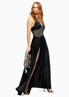 Topshop Crystal Maxi Dress