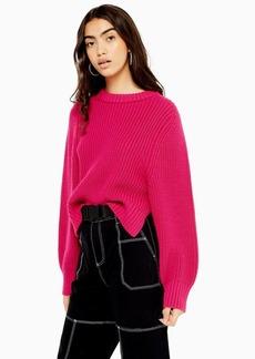 Topshop Deep Rib Knitted Jumper