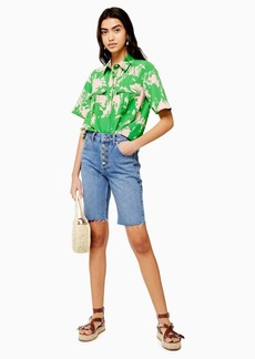 Topshop Denim Cycling Shorts