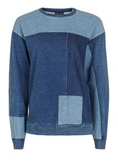 Denim Patchwork Sweatshirt