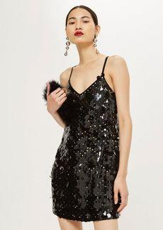 Topshop Disc Sequin Slip Dress