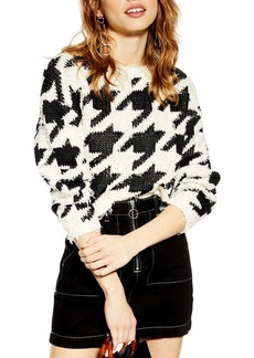 Topshop Dogtooth Sweater
