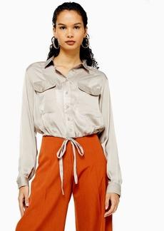 Topshop Drawstring Shirt