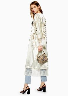 Topshop Embellished Fringe Kimono