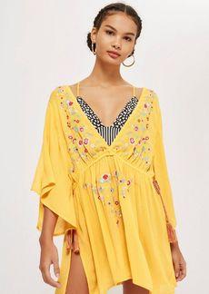 Topshop Embroidered Kaftan Dress