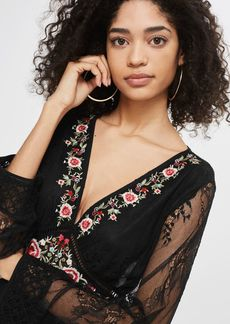 Topshop Embroidered Lace Mini Dress
