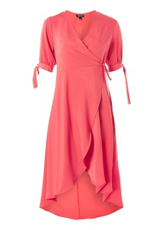 Emma Tie Sleeve Wrap Dress