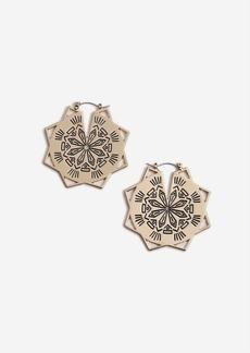 Topshop Engraved Star Hoop Earrings