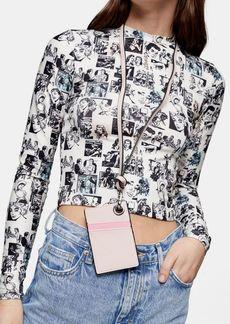Topshop Sale /Shop All Sale /Even Pink Card Holder Lanyard