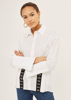 Topshop Eyelet Tape Detail Shirt
