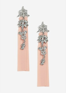 Topshop Fabric Back And Crystal Drop Earrings